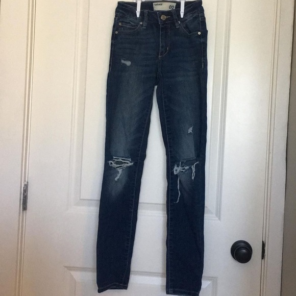 Garage skinny ripped jeans size 00
